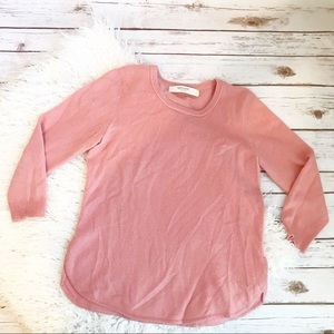 Anthropologie Sparrow Pink Cashmere Cozy Sweater M